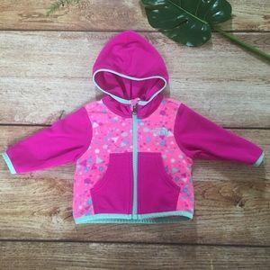 The North Face full zip fleece jacket 0-3 months
